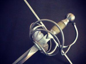 Shell and swept sword rapier