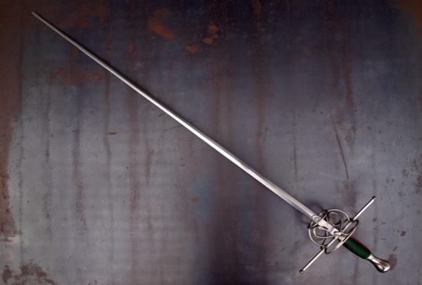 Sword rapier Thibault by Bellatore with viper decoration. Exterior